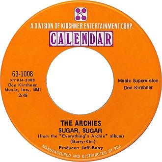 Sugar, Sugar - Image: The archies sugar sugar 1969 US vinyl