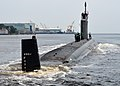 The attack submarine USS Missouri (SSN 780) transits the Thames River as it departs Naval Submarine Base New London in Groton, Conn., June 18, 2013, for a scheduled deployment 130618-N-ZZ999-218.jpg