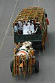 The carriage carrying the mortal remains of the former Prime Minister, Shri Chandra Shekhar making its way to Ekta Sthal for the state funeral, in Delhi on July 09, 2007 (2).jpg