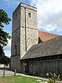 The church tower at St Andrew, Hamble - geograph.org.uk - 1463446.jpg