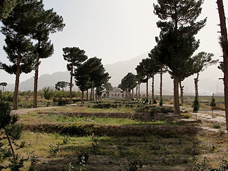 Kholm, Afghanistan - The garden in Tashkurgan built by Abdur Rahman Khan and restored by Dutch people
