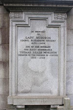 Thomas Brash Morison, Lord Morison - The grave of Thomas Brash Morison, Dean Cemetery