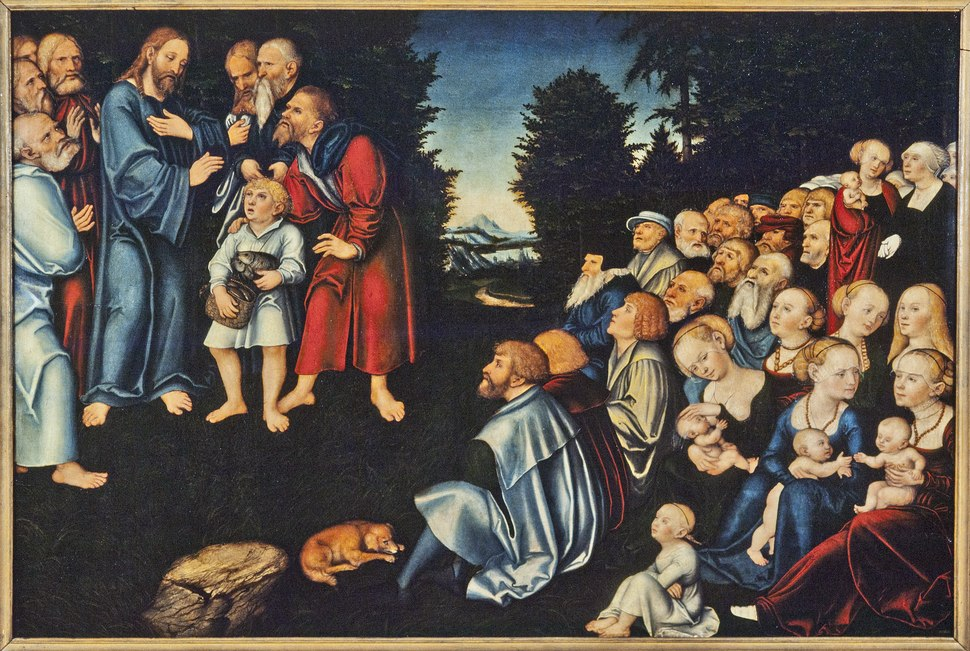 The miracle of the five loaves and two fish (Lucas Cranach d.ä.) - Nationalmuseum - 34936