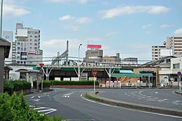 The west exit of the Kasukabe station.jpg