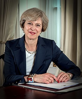 Theresa May Prime Minister of the United Kingdom from 2016 to 2019