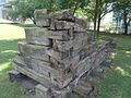 This corner of an old log structure shows the complex dove-tailing of the constituent logs, 2015 09 10 (3).JPG - panoramio.jpg