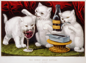 The three jolly kittens: at the feast