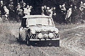 Prodrive WRC Team - Timo Mäkinen driving to victory in the 1965 1000 Lakes Rally