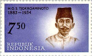 Oemar Said Tjokroaminoto - Image: Tjokroaminoto 1962 Indonesia stamp