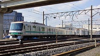 Tokyo Metro 06 series - The 06 series set at Shinkiba Depot in September 2015 awaiting scrapping