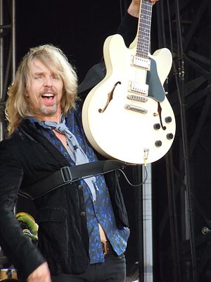 Tommy Shaw - Tommy Shaw performing with Styx on July 2, 2010 at Memorial Park in Omaha, Nebraska