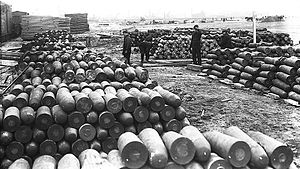 Port Lands - Munitions Dump at Ashbridge's Bay, 1916 (First World War)