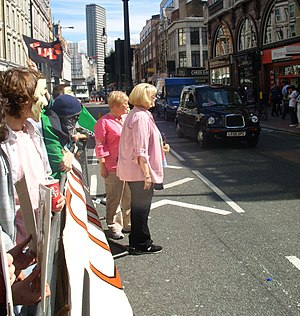 Tory Christman - Christman at protest by Project Chanology in London (July 2008)