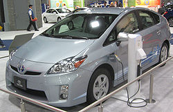 Prius Plug-in Hybrid demonstration program vehicle at the 2010 Washington Auto Show