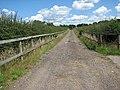 Track between horse paddocks on the Hapton Estate - geograph.org.uk - 1385751.jpg