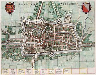 Utrecht - Willem Blaeu's 1652 map of Utrecht