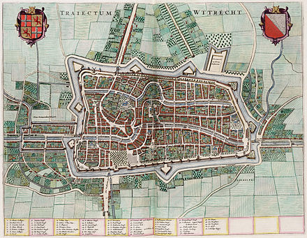 Willem Blaeu's 1652 map of Utrecht Traiectum - Wttecht - Utrecht (Atlas van Loon).jpg