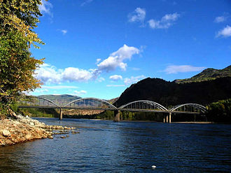 Trail, British Columbia - Trail Bridge crosses Columbia River in Trail BC