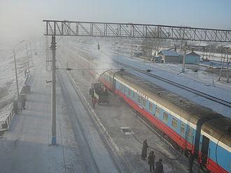 Mogocha - Winter train stop in Mogocha
