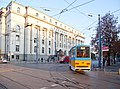 Tram in Sofia near Palace of Justice 2012 PD 032.jpg
