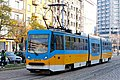 Tram in Sofia near Russian monument 020.jpg