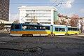 Tram in Sofia near Russian monument 057.jpg