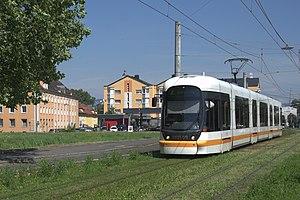 Line 5 Eglinton - Green track in Linz, Austria
