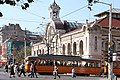 Trams in Sofia in front of Central Market Hall 2012 PD 18.JPG