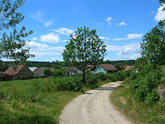 Pocoucov - The way from northeast around the Cyril and Methodius