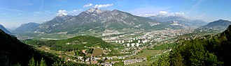 Etschtal - Image: Trento panorama dai Bindesi