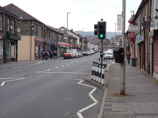 Treorchy village in Wales