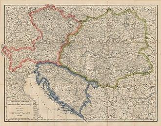Trialism in Austria-Hungary - Trialist proposal from 1905. Henrik Hanau, Vienna