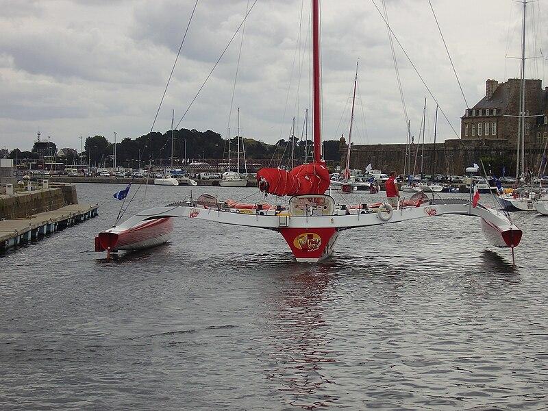 File:Trimaran sailboat in Saint-Malo 2008 PD 07.JPG