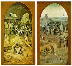 Outside panels of The Temptation of St. Anthony