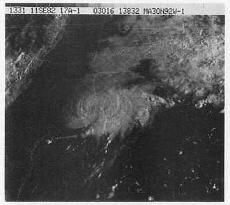 1982 Atlantic hurricane season - Image: Tropical Storm Chris (1982)