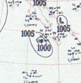 Tropical Storm One analysis 25 Aug 1953.png