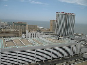 Hard Rock Hotel & Casino Atlantic City - Image: Trump Taj Mahal from Fairfield Resorts 20060627