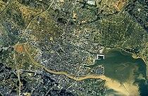 Tsuchiura city center area Aerial photograph.1990.jpg