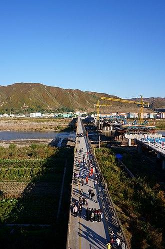 Tumen River - Image: Tumen River Bridge in 2018