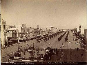 Avenue Habib Bourguiba - Avenue de la Marine in 1885