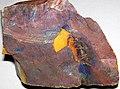Turgite & hematite on flint (Vanport Flint, Middle Pennsylvanian; Nethers Flint Quarries, Flint Ridge, Ohio, USA).jpg