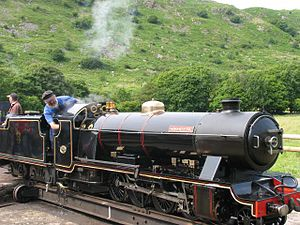 Ravenglass and Eskdale Railway locomotives - River Esk at Dalegarth