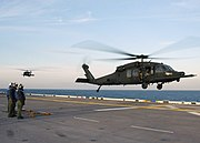 Two UH-60M, 160th SOAR on USS Bataan on 10 Feb. 2006