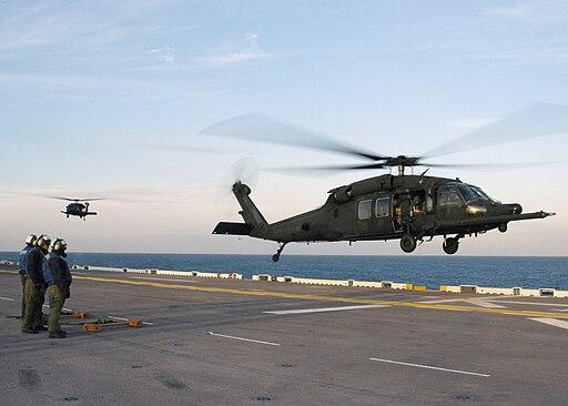Two UH-60M, 160th SOAR on USS Bataan on 10 Feb. 2006