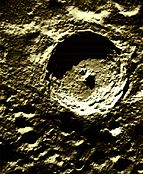 Impact crater Tycho on the Moon