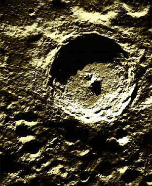 Tycho crater, one of many examples of circles ...