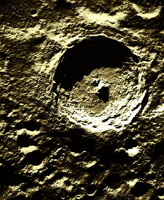 Impact crater - Impact crater Tycho on the Moon