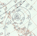 Typhoon Charlotte analysis 14 Oct 1959.png