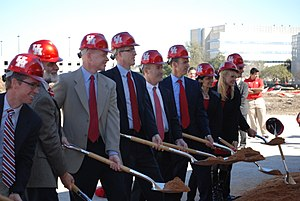 TDECU Stadium - The official groundbreaking ceremony for the stadium took place on February 8, 2013