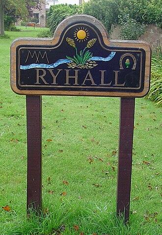 Ryhall - Village sign